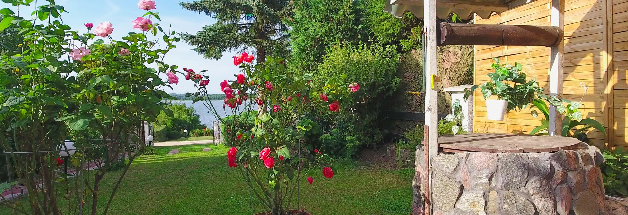 Domki nad jeziorem Orzysz, na jezioro z posesji